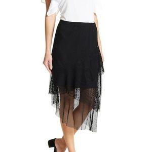 14th & Union Femme Mesh Midi Skirt